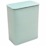 Chelsea Collection Decorator Color Wicker Hamper in Herbal Green by Redmon