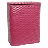 Chelsea Collection Decorator Color Wicker Hamper in Raspberry by Redmon