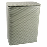 Chelsea Collection Decorator Color Wicker Hamper in Sage Green by Redmon