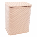 Chelsea Collection Decorator Color Wicker Hamper in Tea Rose by Redmon