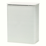 Chelsea Collection Decorator Color Wicker Hamper in White by Redmon