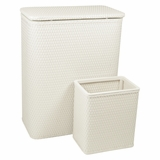 CHELSEA COLLECTION HAMPER AND MATCHING WASTEBASKET SET in CREAM by Redmon