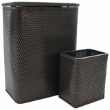 CHELSEA COLLECTION HAMPER AND MATCHING WASTEBASKET SET in ESPRESSO by Redmon