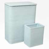 CHELSEA COLLECTION HAMPER AND MATCHING WASTEBASKET SET in ILLUSION BLUE by Redmon
