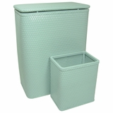 CHELSEA COLLECTION HAMPER AND MATCHING WASTEBASKET SET in MYSTIC GREEN by Redmon