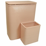 CHELSEA COLLECTION HAMPER AND MATCHING WASTEBASKET SET in TEA ROSE by Redmon