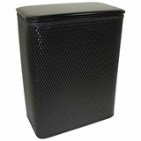 Chelsea Collection Hamper with vinyl lid in Black by Redmon