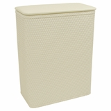 Chelsea Collection Hamper with vinyl lid in Cream by Redmon