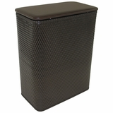 Chelsea Collection Hamper with vinyl lid in Espresso by Redmon