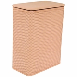 Chelsea Collection Hamper with vinyl lid in Tea Rose by Redmon