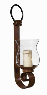 Chelsea Hurricane Candle Holder With Clear Glass Globe and Ivory Brand Uttermost