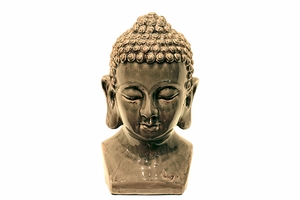 Chelsea's Divine Beauty Ceramic Buddha Head Grey