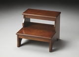 "Chestnut Burl Step Stool 18""W by Butler Specialty"