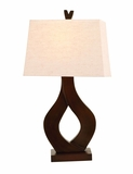 Chic And Modern Table Lamp With Twisted Polystone Brand Woodland