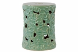 Chichester's Attractive Ceramic Garden Stool Blue