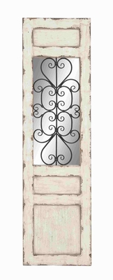 Irish White Coppice Metal Wall Panel - 53228 by Benzara