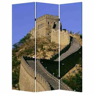 China Screen, 3 Panel Canvas Screen, 48 Inch L X 72 Inch H Brand Screen Gems