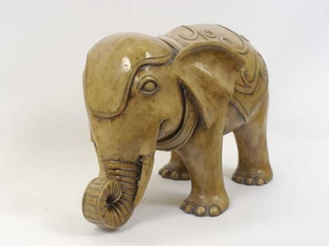 Chinese Attractive Resin Elephant Statue by Urban Trends Collection