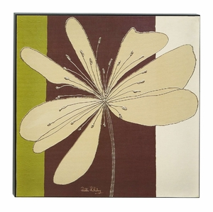 Chocolate Fleur Contemporary Wood Box Wall Art Sculpture Brand Woodland