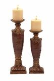 Christmas Candle Holder Set of 2 Holiday Decor