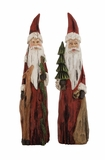 """Christmas Decorative Polystone Santa Clause Set of 2 Assorted 16"""", 15""""H by Woodland Import"""