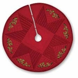 Christmas Noel Themed Wrap Around Holiday Tree Skirt Brand C&F