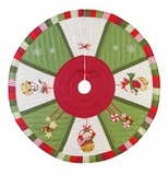 Christmas Snow Sleigh Themed Wrap Around Holiday Tree Skirt Brand C&F