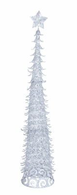 "Christmas Tree With Star and Glitter 60""H Holiday Decor"