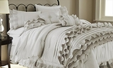 Anastacia Pearl White Embellished Queen Size Comforter Set of Eight
