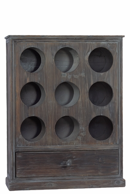 Circular Pattern Designed Wooden Cabinet with Drawer