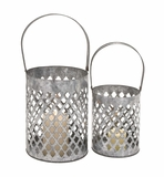 Circular Shaped Attractive Styled Metal Lantern by Woodland Import