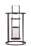 Circular Shaped Metal Lantern in an Open Design w/ Holder