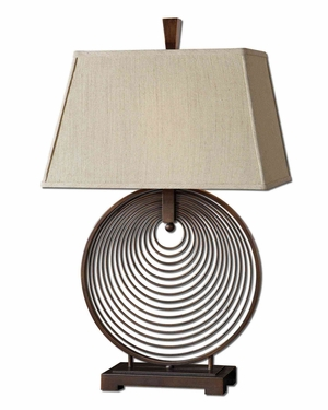 Ciro Metal Rings Lamp Crafted with Oil Rubbed Bronze Brand Uttermost