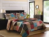 Clairemont New Bohemian Queen Sized Quilt Set