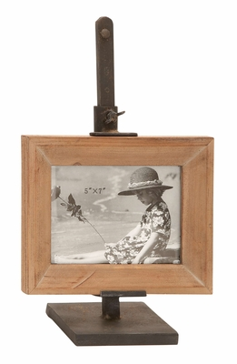 Clamped Wide Photo Frame - Clever Photo Frame With Iron Clamp Brand Woodland
