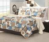 Claremont Beachcomber Queen Sized Quilt Set