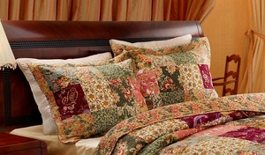 Claremont Collection Antique Chic Multi Color Standard Sham by Greenland Home Fashions
