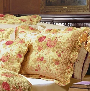 Claremont Collection Antique Rose Multi Color Standard Sham by Greenland Home Fashions