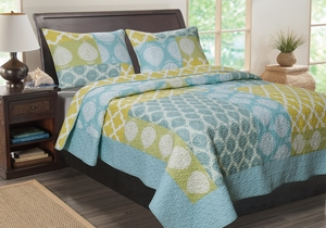 Claremont Collection Avalon Multi Color Standard Sham by Greenland Home Fashions