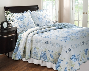 Claremont Collection Coral Blue Color Standard Sham by Greenland Home Fashions