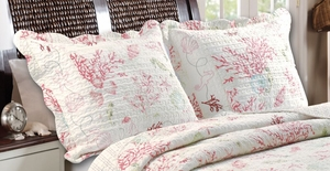 Claremont Collection Coral Red Color King Sham by Greenland Home Fashions