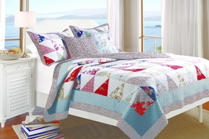 Claremont Collection Harbor Sky Multi Color Standard Sham by Greenland Home Fashions