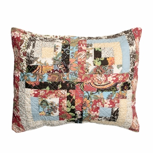 Claremont Collection Montrose Multi Color Standard Sham by Greenland Home Fashions