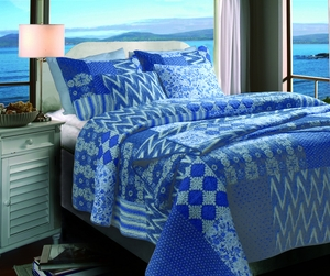 Claremont Collection Santorini Multi Color King Sham by Greenland Home Fashions