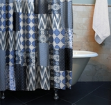 Claremont Collection Santorini Multi Color Shower Curtain Bath by Greenland Home Fashions