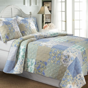 Claremont Collection Vintage Jade Multi Color King Sham by Greenland Home Fashions