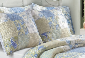 Claremont Collection Vintage Jade Multi Color Standard Sham by Greenland Home Fashions