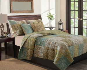 Claremont Collection Vintage Paisley Multi Color King Sham by Greenland Home Fashions