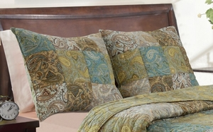 Claremont Collection Vintage Paisley Multi Color Standard Sham by Greenland Home Fashions