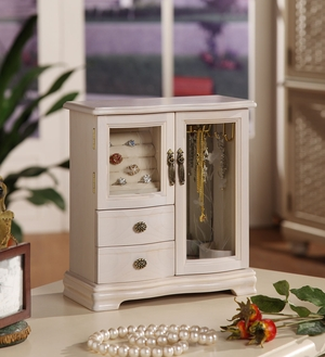 Classic 2 Dual Case Jewelry Box with Open and Shut Door Brand Nathan